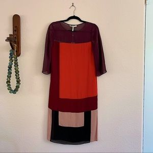 BCBG Runway Silk Sheath Dress